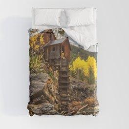 CRYSTAL MILL AUTUMN COLORADO FALL LANDSCAPE Duvet Cover