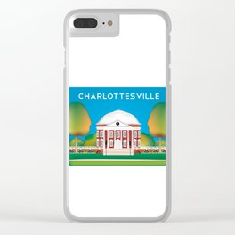 Charlottesville, Virginia - Skyline Illustration by Loose Petals Clear iPhone Case