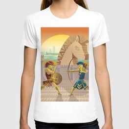 trojan war and troy horse T-shirt