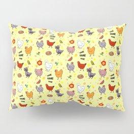 Cute seamless chickens pattern cartoon Pillow Sham
