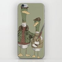 hunting iPhone & iPod Skins featuring Hunting Ducks by David Fleck