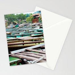 Boats in Ninh Binh, Vietnam Stationery Cards