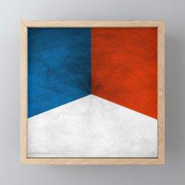 France Framed Mini Art Print
