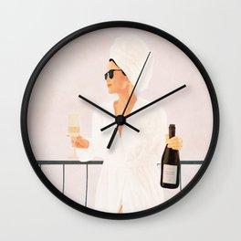 Morning Wine II Wall Clock