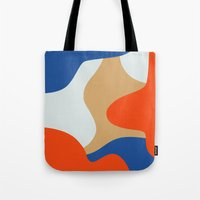 chill Tote Bags featuring Chill by Tra Dao