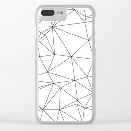 Black and White Geometric Minimalist Pattern Clear iPhone Case