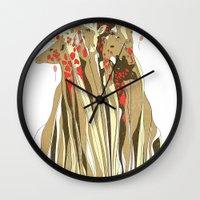 tangled Wall Clocks featuring Tangled by Julia Kisselmann