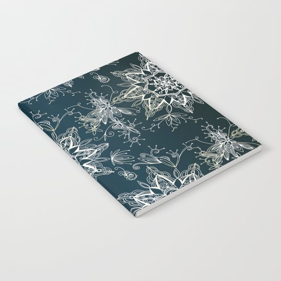 Zendala snowflake denim Notebook