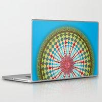 health Laptop & iPad Skins featuring Health Mandala - מנדלה בריאות by dotan yiloz