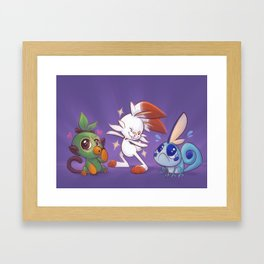 Poke starters Framed Art Print