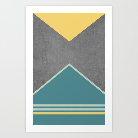 Concrete & Triangles III Art Print