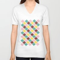 monroe V-neck T-shirts featuring Monroe by Dewi Gale