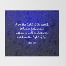 Light of the World - Bible Verse Galaxy Version Throw Blanket
