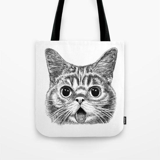 Tongue Out Cat Tote Bag