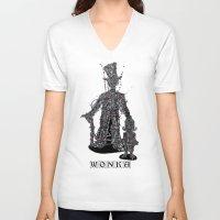 willy wonka V-neck T-shirts featuring WOnkA by Nicholas Price