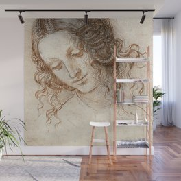 Leonardo da Vinci - Head of Leda Wall Mural