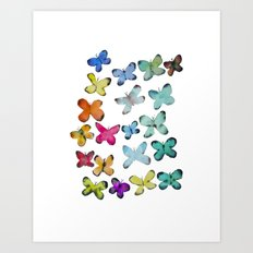 For A Friend: Butterflies Art Print