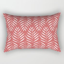 Palm trees in red Rectangular Pillow