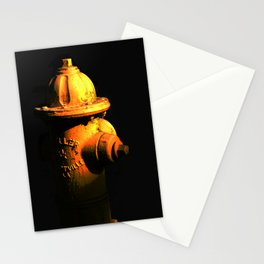 Fire Hydrant Orange and Black Art - Hot - Sharon Cummings Stationery Cards