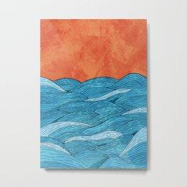The Blue Sea Metal Print