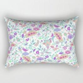 Eslimi floral in white Rectangular Pillow