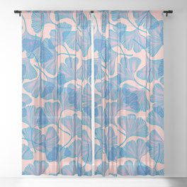 Abstraction_Ginkgo_Pattern_Minimalism_002 Sheer Curtain