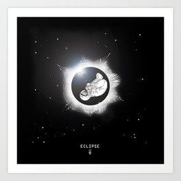 ECLIPSE :: rebirth of the lost cosmonaut Art Print