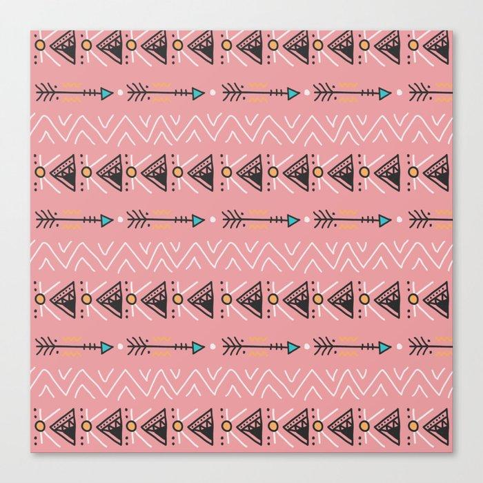 Triangle arrow pattern Canvas Print