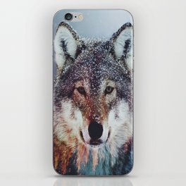 Wolf Double exposure iPhone Skin