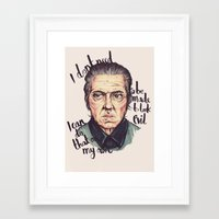 christopher walken Framed Art Prints featuring Christopher Walken by Ella Betts