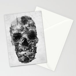 Town Skull B&W Stationery Cards