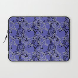 Vertebrae duo pattern in dark periwinkle Laptop Sleeve