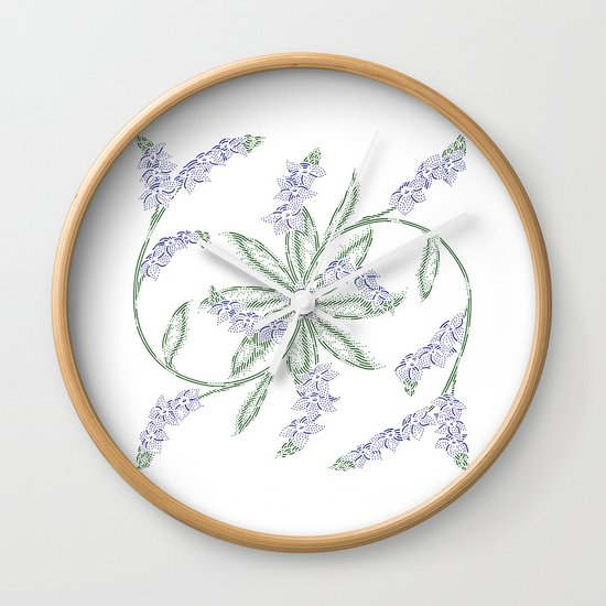 Forget-me-not pattern Wall Clock