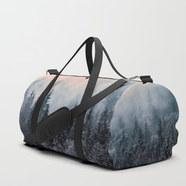 Forest in gray and pink Duffle Bag