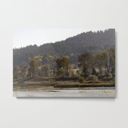 Willamette River Clearlake Path Metal Print