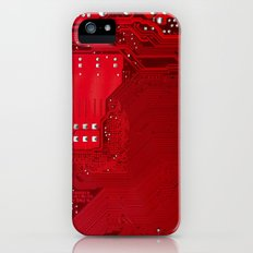 red electronic circuit board iPhone (5, 5s) Slim Case