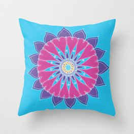 Heart Mandala Throw Pillow