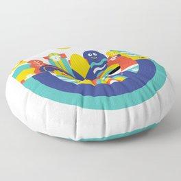 Skate monsters Floor Pillow