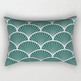 Emeral grey petal geometric pattern Rectangular Pillow