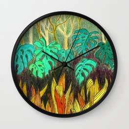 Garden of Eden 2 Wall Clock