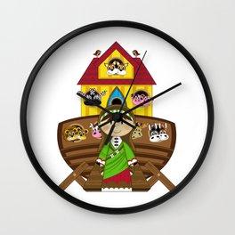 Cute Noahs Ark Wall Clock