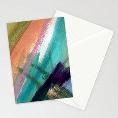 Lucky [5] - a bright abstract mixed media piece Stationery Cards