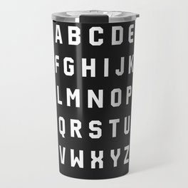Typography Alphabet #3 Travel Mug