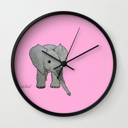 Emma Sweet Pea Wall Clock