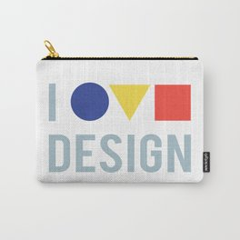 I Love Bauhaus Design, Movement Poster Artwork, 1919 Walter Gropius Reproduction, tshirt, tee, jerse Carry-All Pouch
