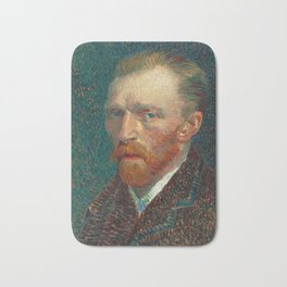 Vincent van Gogh - Self-Portrait, 1887 Bath Mat