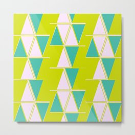 Mod Triangles Metal Print