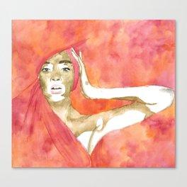 Winnie Harlow Canvas Print