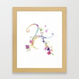 Letter A - Monogram Initial Framed Art Print