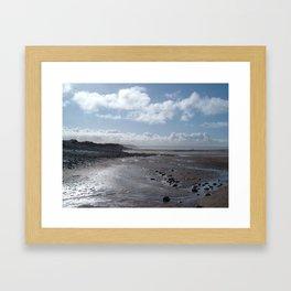 NORTHAM BURROWS BEACH NORTH DEVON Framed Art Print